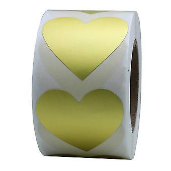 Sydämen muotoiset tarrat Glitter Kirjekuori Kultaiset rakkaustarrat paperitavaralle