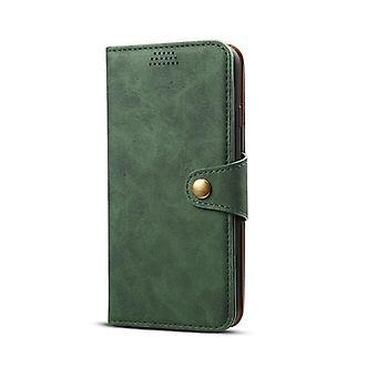 חריץ לכרטיס מארז עור ארנק עבור סמסונג s10 ירוק כהה no2568