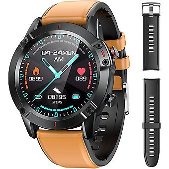 Smart Watch Sport Watch, IP68 waterdichte slimme armband fitness tracer hartslagmeter / slaap / stappenteller (bruin)