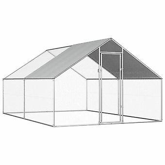 vidaXL Outdoor Kippenkooi 2.75x4x1.92 m Gegalvaniseerd Staal