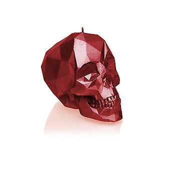 Röd metallisk liten låg polyskalle