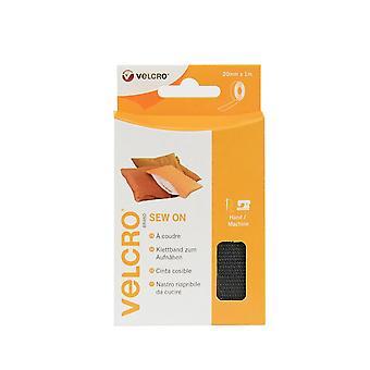VELCRO Brand Sew on Tape 20mm  x 1m Black