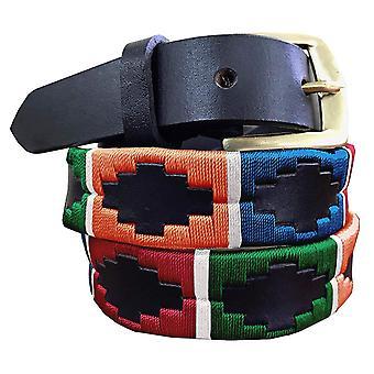 Carlos diaz hnědý kožený hubený pásek awo78981