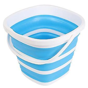 Foldable Pail Bucket Collapsible Buckets Multi Purpose,10l (2.6 Gallon)(Blue)