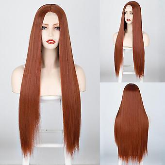 Synthetische Perücke lange gerade Perücke Cosplay Perücke orange Ingwer Farbe hitzebeständige Perücken für Frauen