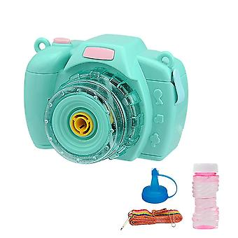 Funny Magic Music Camera Bubble Blower Machine Toys Girls Boys Family Summer 1pc Electric (Blue)
