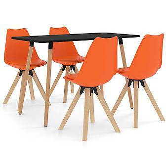vidaXL 5-tlg. Essgruppe Orange