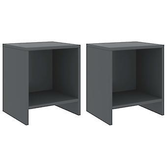 tabelas vidaXL Bedside 2 pcs. Cinza escuro 35x30x40 cm Madeira maciça pine