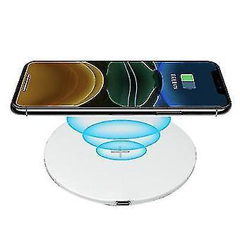QI15W mobiele telefoon draadloze snelle ronde oplader voor Apple iphone 12 (Wit)