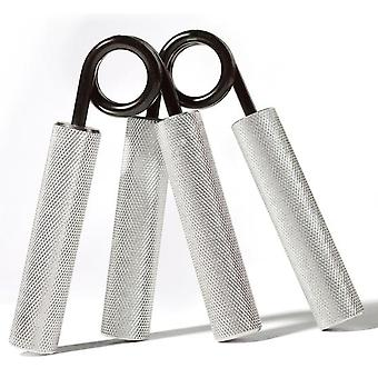 2Pcs 100lbs  Hand Grips Wrist Rehabilitation Arms Muscle Strength Training(Sliver)
