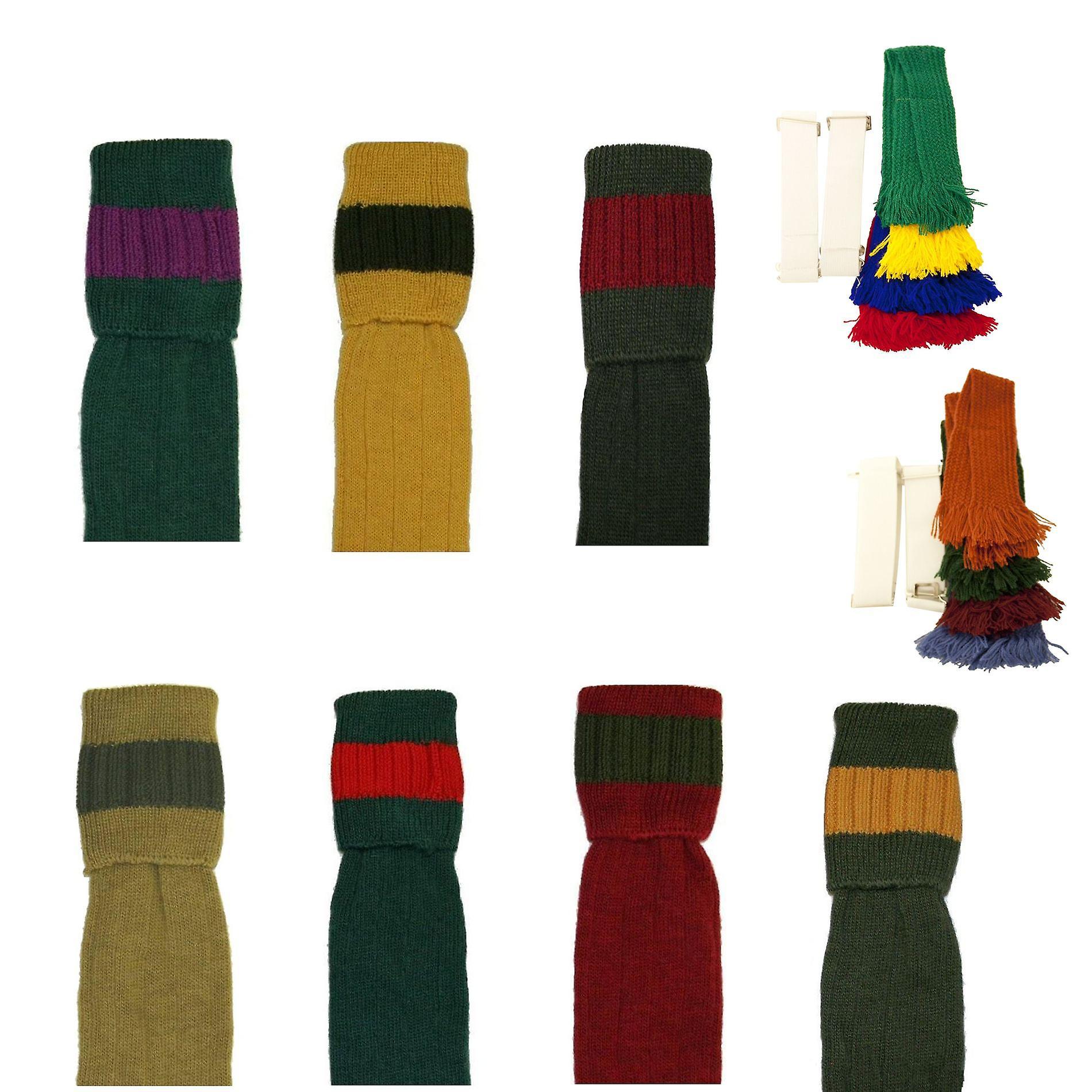 Bisley Socken und Strumpfband set gepolsterte Wolle traditionellen schießen Strümpfe breeks