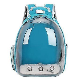 Cat Carrier Rucsac, Space Capsule Knapsack Pet Travel Bag impermeabil respirabil (albastru deschis)