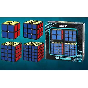 4pcs Speed Cube Set Skew Pyramid Sq1 Megaminx Puzzle Set