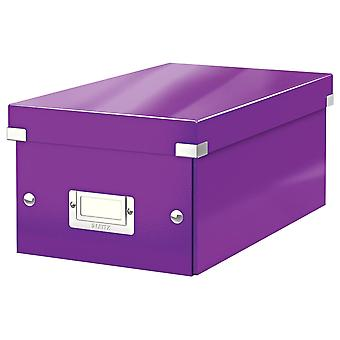 DVD Storage Box, Purple, Click and Store Range, 60420062
