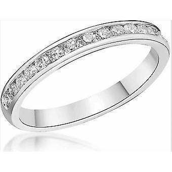HS Johnson HSJ-CSC285A Women's Diamond Set Half Eternity Platinum Ring