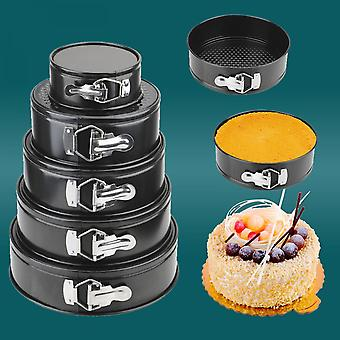 Removable Bottom Non-stick Metal Bake Mould Round Cake Pan Bakeware Carbon Steel Cakes Molds Kitchen Accessories