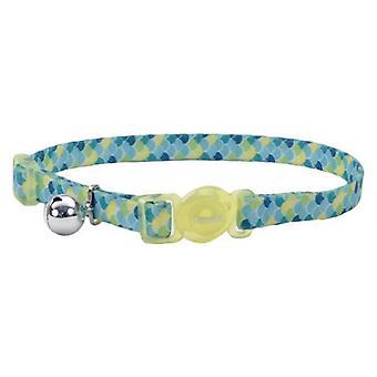 """Coastal Pet Safe Cat Breakaway Collar Lime Teal - 12""""L x 3/8""""W"""