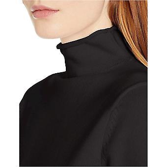 Essentials Kvinders langærmede 100% bomuld roll hals sweater