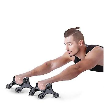 Multifunktionale 3-in-1 Home Workout Ausrüstung, ABS Rollrad - Push Up Bars
