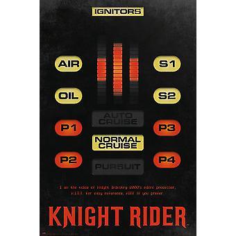Knight Rider Poster Kitt Consol 91,5 x 61 cm