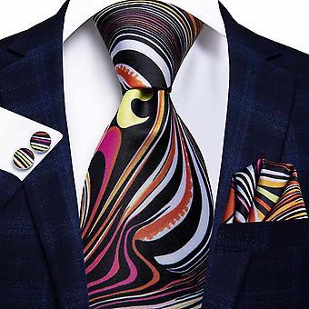 Cravatta italiana hi-tie 100% set cravatta da uomo in seta, 8,5 cm (C-1277)