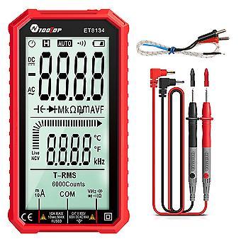 أداةTop Et8134 الرقمية الذكية متعددة المقاييس Ncv اختبار Dc / ac الجهد قياس قياس مقاومة قياس متر
