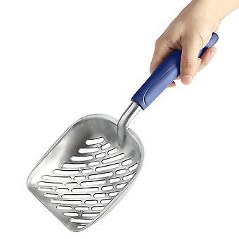 Cat Litter Scoop din oțel inoxidabil Litter Scoop ușor mâner lung