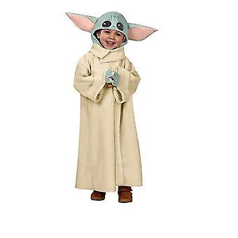 Costume de bébé Yoda, mandalorian L'enfant Robe Manteau Chapeau Halloween