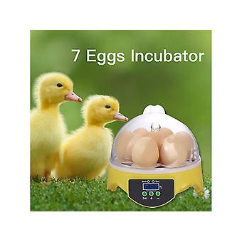 Automatisk 7 Æg Inkubator Smart Digital Hatch Tool til Duck Bird Kylling Goose