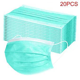 20st engångsmasker med 3 lager Anti-dust Face Mask med elastisk öronsnäcka