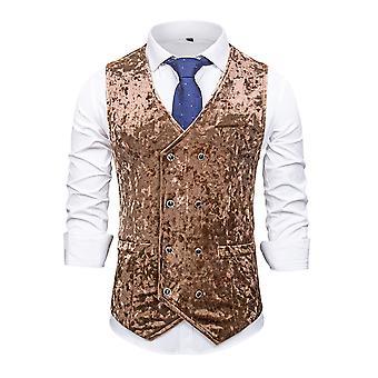 ميل الرجال سليم صالح تناسب سترات V الرقبة الرسمية الأعمال بلا أكمام دعوى فستان صدرية منفصلة