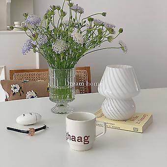 Dream Home Welfare Section Champignons rayés en verre médiéval Petite lampe de table