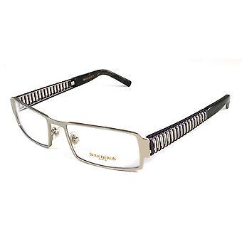 Boucheron Unisex semi-rettangolo Full-montatura occhiali da vista viola/oro