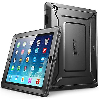 iPad 2 caso, SUPCASE Apple iPad Case, Unicorn Beetle PRO serie, pieno-corpo robusto ibrido custodia protettiva, iPad2-Black/Blac