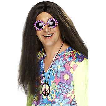 60. Hippy hippy peruki męskie, flower power