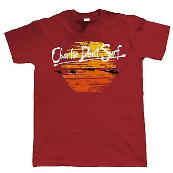 Charlie Don't Surf, Mens Funny T Shirt - Gift for Him Dad Retro Movie Vietnam