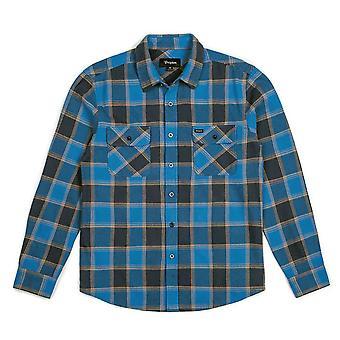 Brixton Bowery franela L/S camisa azul marina