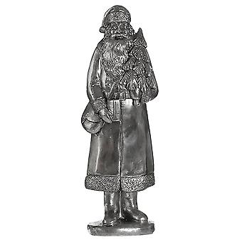 Christmas Shop Silver Santa Figure