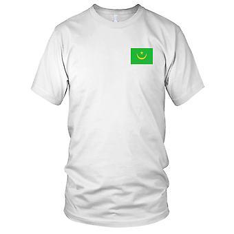 Drapeau National du pays de Mauritanie - Logo - brodé 100 % coton T-Shirt Ladies T Shirt