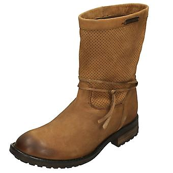 Ladies Harley Davidson Mid Calf Boot Sicilia D83972 - Tan Leather - UK Size 6 - EU Size 39 - US Size 8