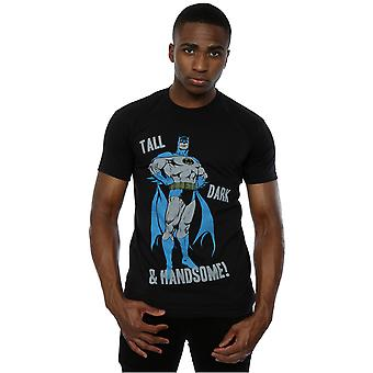 DC كاريكاتير الرجال & apos;ق باتمان طويل القامة الظلام وسيم تي شيرت