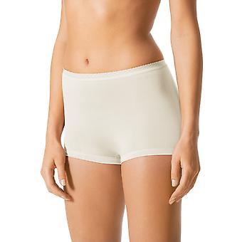 Mey 89206-20 Women's Pearl White Solid Colour Knicker Shorties Boyshort
