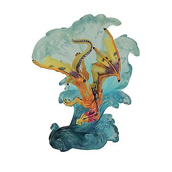 Dragon Gliding Along Wave Statue