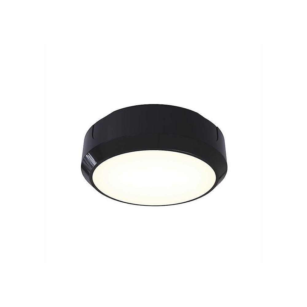 Ansell 's Delta LDelta LED 8W LED cirkulære BulkheadED - elektroniske fotocelle 14W LED sort / Visiluxe