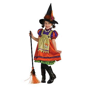 Pomarańczowy Witch Halloween Dress Up kostium dziewczyny
