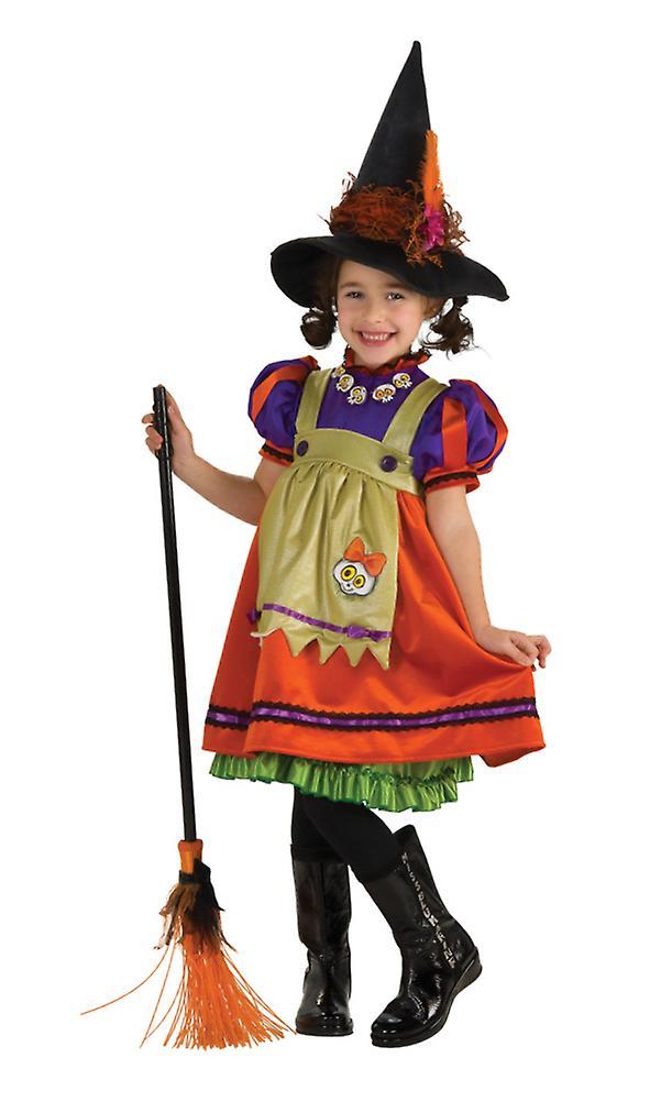 Orange Witch Halloween Dress Up Girls Costume