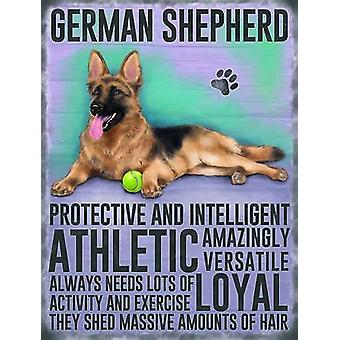 Medium Wall Plaque 200mm x 150mm - German Shepherd by The Original Metal Sign Co