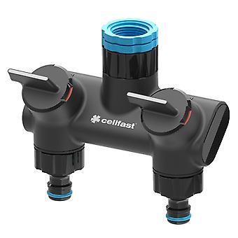 Duo/Quad Garden Patio Water Distributor Hose Outputs Ergonomic Tap Connectors