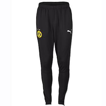 2018-2019 Borussia Dortmund Puma Casual Sweat Pants (Black)