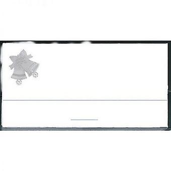 Amscan الفضة أجراس Applique Placecards (حزمة من 12)